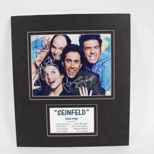 1990-1998 Seinfeld auatographed  8x10 Cast Photo -Matted COA Global