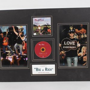 Big & Rich Wild West Show Autographed CD Cover Display Obtained at the 2004 Radio Music Awards