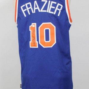 """Walt """"Clyde"""" Frazier Knicks  Signed  Hardwood  Classics Reebok Jersey"""