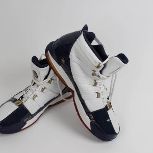 First EVER Play-Offs!! 2006 Cleveland Cavaliers - LeBron James Game-Worn Shoes from April 28th Playoff Game vs. Wizards (First Road Playoff Victory