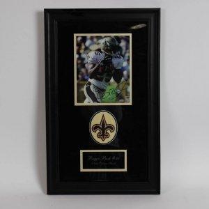 Reggie Bush New Orleans Saints  Signed 8x10 Framed Photo Display  (Mounted Memories)