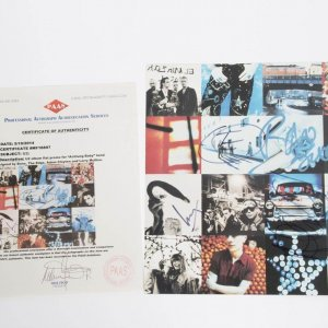 """U2 Album Fat Promo """"Achtung Baby""""  Signed By Band  Bono"""
