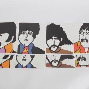 Beatles 1968 Yellow Submarine Retro Art  Stationery - 1 John