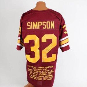 O.J. Simpson USC Signed & Inscribed (Heisman 1968 ) Stat Jersey