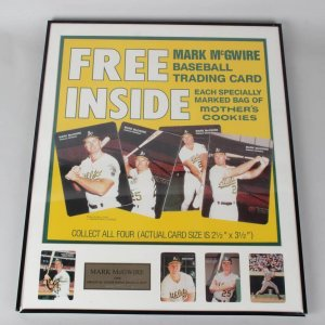1989 Oakland A's - Mark McGwire - Mother's Cookies Card Advertising Display with Cards