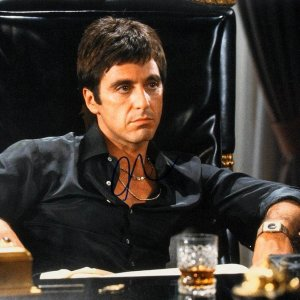 """Scarface Al Pacino Signed 11"""" x 14"""" Photo- Signed Fairmont Hotel Move Premiere Castro Street Theater"""