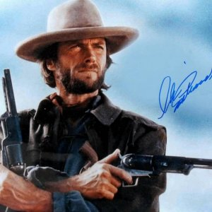 """Clint Eastwood Signed 11x14 Color Photo""""The Outlaw Josey Wales"""" Signed Peeble Beach Monteray Ca"""