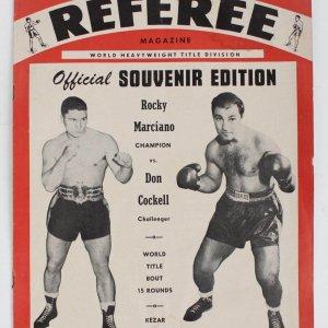 Rocky Marciano Vs Don Cockell Kezar Stadium SF Rare Referee Program