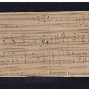 Rare Composer Franz Liszt Signed Musical Manuscript of the Gregorian Hymn