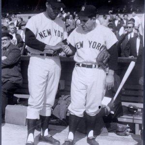 1959 All-Stars - New York Yankees - Elston Howard & Yogi Berra 11x14  Photo (Original Print From Teenie Harris Estate - From the Pittsburgh Courier Archives)