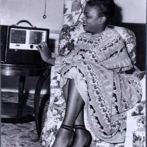 Woman Listening to the Radio Teenie Harris 11x14 Photo