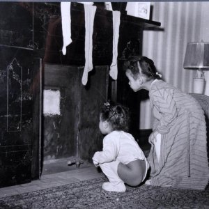 Two Girls Looking For Santa 11x14 Photo (Original Print From Teenie Harris Estate - From the Pittsburgh Courier Archives)