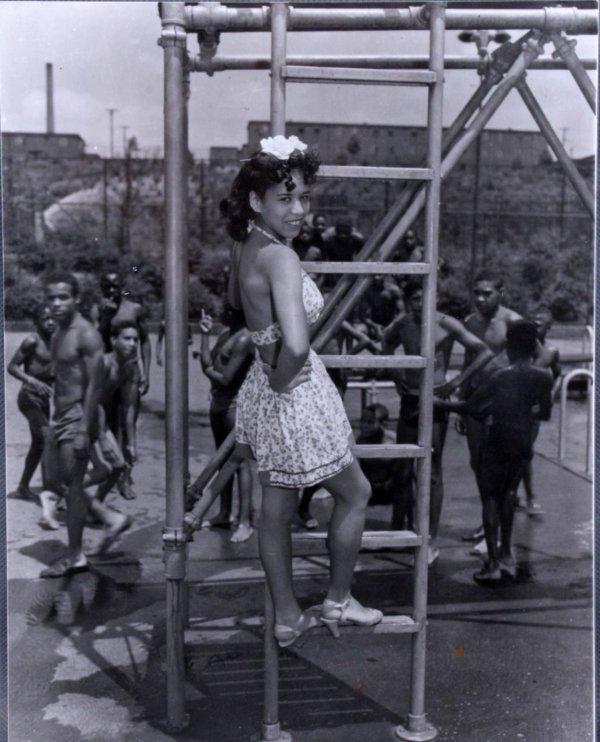 Girl on the Playground 11x14 Photo (Original Print  Teenie Harris Estate Pittsburgh Courier Archives)