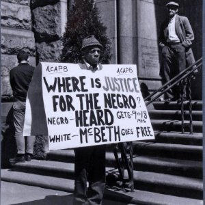 Social Justice Protester - Teenie Harris 11x14 Photo (Original Print From Teenie Harris Estate - From the Pittsburgh Courier Archives)