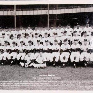 1955 American League Champions - New York Yankees Vintage Team 8x10 Photo