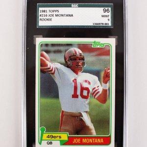 1981 San Francisco 49ers Joe Montana Rookie Card (SGC 96 MINT 9)