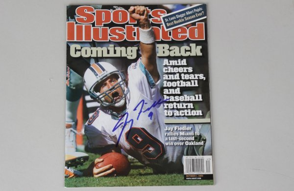 Jay Fiedler Signed Cover of Sports Illustrated Magazine