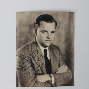 """Director of 1948 The Babe Ruth Story - Roy Del Ruth Signed & Inscribed  7-1/2"""" x 9-1/2"""" Photo"""