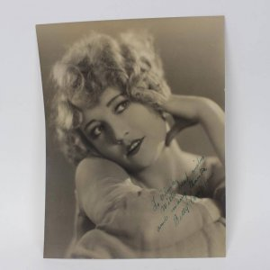 Betty Compson Silent films Star Sgned & Inscribed (With Best Wishes And Manny Thanks) 101/4 by 131/4 Melebourne Spurr Portrait B&W Vintage Photo