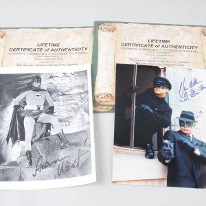 Comic Super Heroes - Batman Adam West & The Green Hornet Van Williams Signed 8x10 Photos