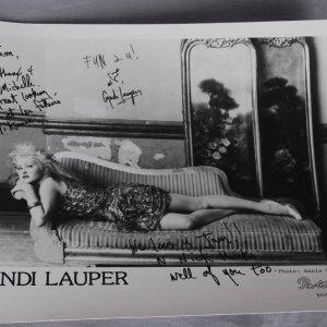 Cyndi Lauper Signed & Inscribed 8x10 Photo by Annie Leibovitz