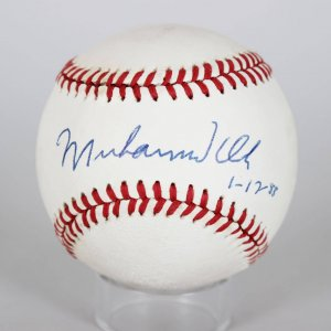 Muhammad Ali Single Signed ONL (Giamatti) Baseball - Date Inscribed (1-17-88)
