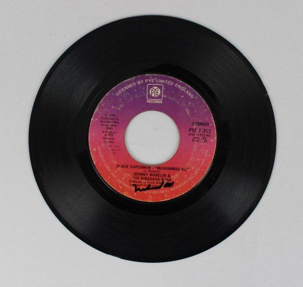 1974 Muhammad Ali Signed Black Superman Record