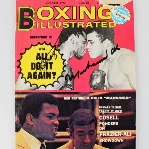 1975 Muhammad Ali & Joe Frazier Signed Boxing Illustrated Magazine