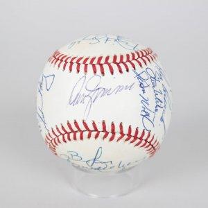1990 Chicago Cubs Team Signed ONL (White) Baseball Don Zimmer, Greg Maddux, Andre Dawson