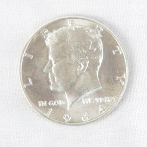 1964 John F. Kennedy Half Dollar - 50 Cent Piece - Uncirculated