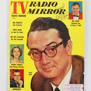 Billy Haley Signed & Inscribed 1957 TV Radio Mirror Magazine
