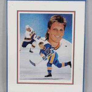 St. Louis Blues Brett Hull Autographed Joachim Thiess Litho LE 128/999