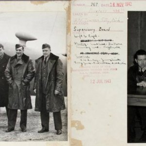 942 WWII VJ-6 Photos - (2) From Traverse City Incl. Arrival of Officers & Supervisory Board