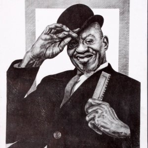 Sonny Boy Williamson Charcoal Artwork by Pittsburgh Artist George Gist From The Original Teenie Harris Photo LE 5/500