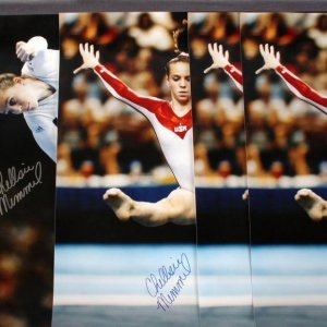 Chellsie Memmel autographed 16x20 Color Action Posters Olympic PSA/DNA