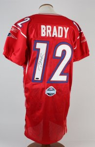 Patriots Tom Brady Signed Reebok Authentic All-Star 2006 Pro Bowl Red Jersey (Tristar)