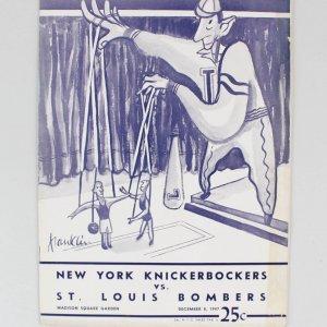 1947 New York Knickerbockers vs. St. Louis Bombers Program