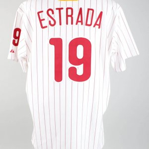 2001 Johnny Estrada Game-Worn Phillies Jersey