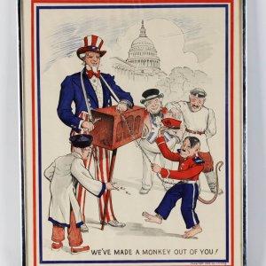 """1943 Vintage Unfolded World War II Original Poster (15"""" x 20"""")"""