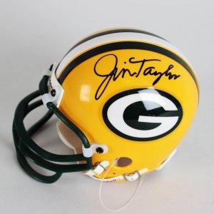 Packers - Jim Taylor Signed Mini Helmet
