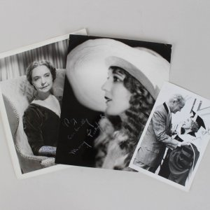 Two Signed Mary Pickford & Lillian Gish Photos