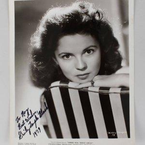 Shirley Temple Signed & Inscribed 8x10 Photo