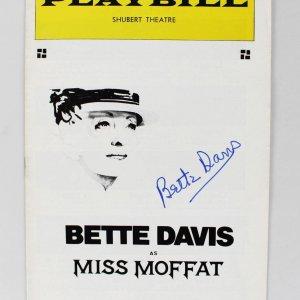 Bette Davis Signed Miss Moffat Play Billy