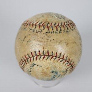 1928 Chicago White Sox Team Signed OAL (Barnard) Ed A Walsh, Moe Berg, Red Faber