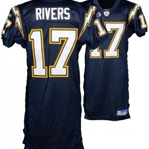 rivers chargers game worn jersey