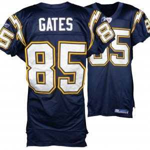 chargers game worn jersey