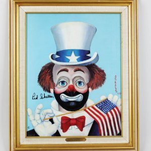 Red Skelton Signed Limited Edition 439/5000 Giclee