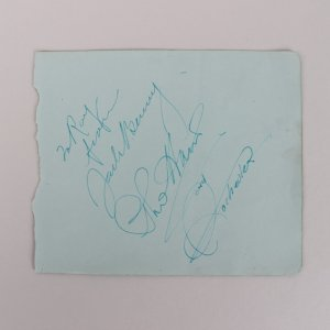 Jack Benny, Phil Harris & Rochester Signed 5×6 Cut – The Jack Benny Show