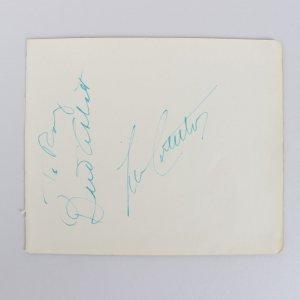 Rare - Bud Abbott & Lou Costello Signed 5x6 Cut