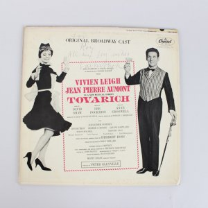 Musical Comedy Tovarich Vivien Leigh Signed Record